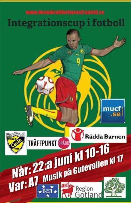 Affisch Integrationscup i fotboll 22a juni
