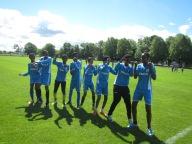 Somaliska Freds firar efter mål integrationscup