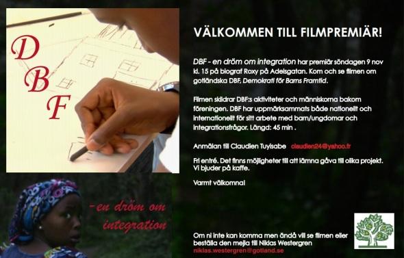 Filmpremiär DBF - en dröm integration