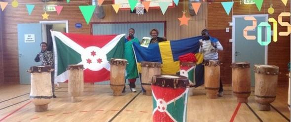 Burundiska trummor Gotland