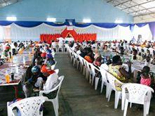Fest för föräldralösa barn i Burundi