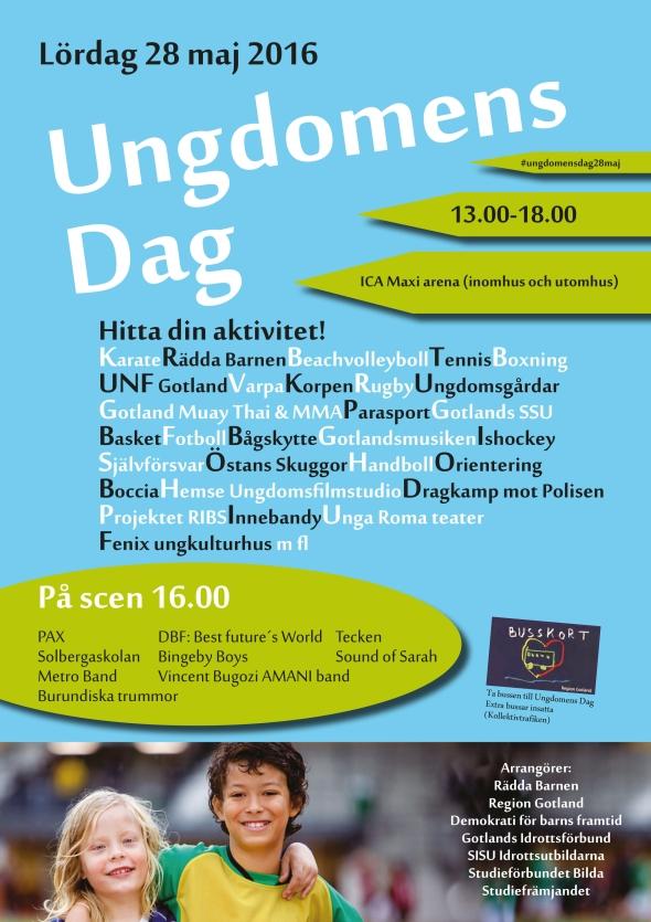 Inbjudan Ungdomens Dag 28e maj