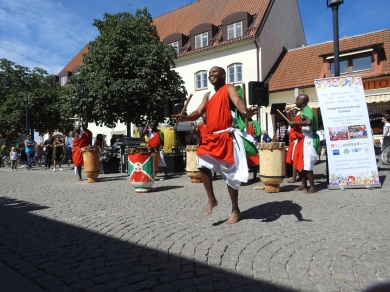 Burundiska trummor Visby centrum