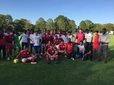 DBF tog emot Fotboll för alla från Nynäshamn 15:e augusto 2018